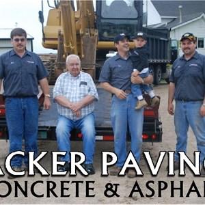 Acker Paving Concrete & Asphalt Logo