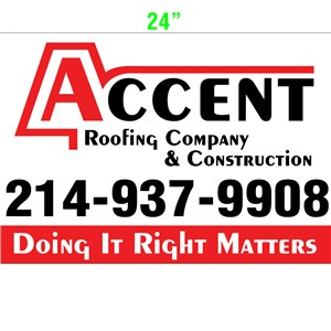 Accent Roofing Company & Construction Logo