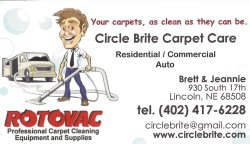 Circle Brite Carpet Care. Lincoln, NE