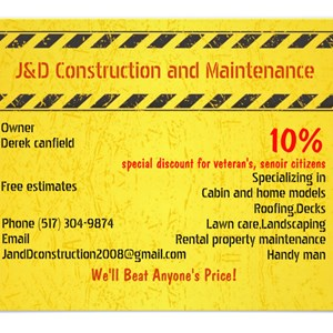 J&D Construction And Maintenance Logo