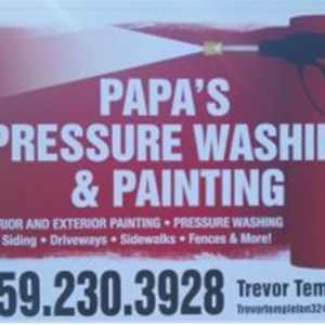 papa,s pressure washing & painting Cover Photo