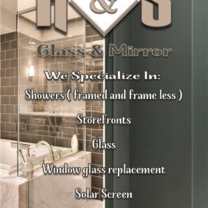R&S Glass And Mirror Logo