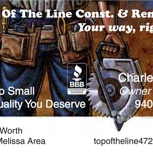 Top of the Line Construction & Remodeling Logo