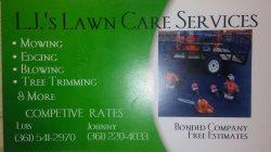 L.js Lawn Care Services Logo