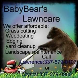 Baby Bear Lawn Care Logo