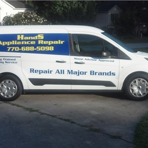 Hands Appliance Repair Logo