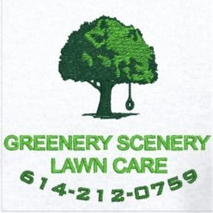 Greenery Scenery Lawn Care Logo