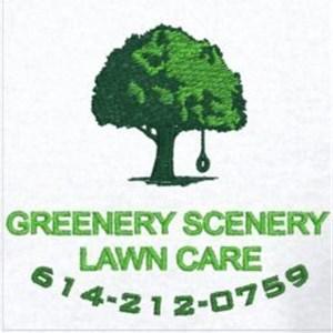 Greenery Scenery Lawn Care Logo
