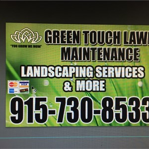 Green Touch Lawn Maintenance Logo