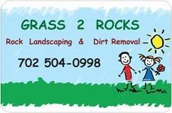 Grass 2 Rocks Desert Landscape Logo