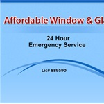 Affordable Window & Glass Cover Photo