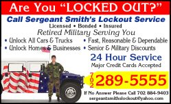 Sergeant Smiths Lockout & Roadside Svc Inc Logo