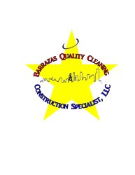 Barraza Quality Cleaning & Construction Specialist Logo