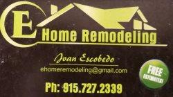 E Home Remodeling Logo