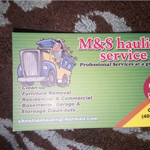 M & S Hauling Services Logo