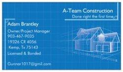 A-team Construction Logo
