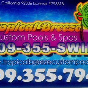 Tropical Breeze Custom Logo