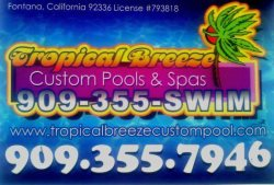 Tropical Breeze Custom Pools Logo