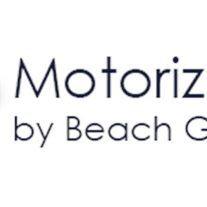 Motorized Shading by Beach Glass Design Logo