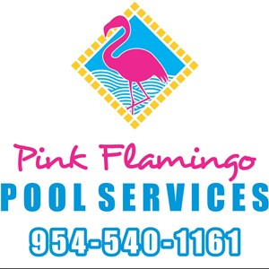 Pink Flamingo Pool Service Logo