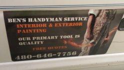 Bens Handyman Service Logo