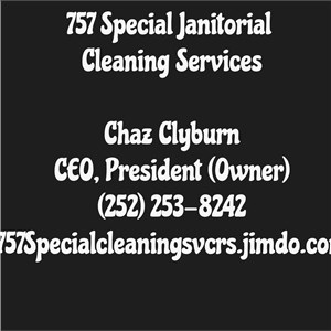 757 Special Janitorial Cleaning Services Logo