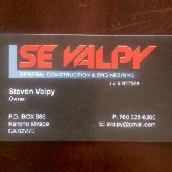 S. E. Valpy Construction And Engineering Logo