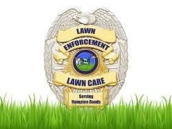 Lawn Enforcement Lawn Care Logo