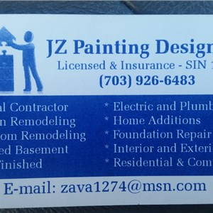 J Z Painting & Design Logo