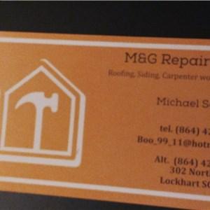 M & G Repairs Logo