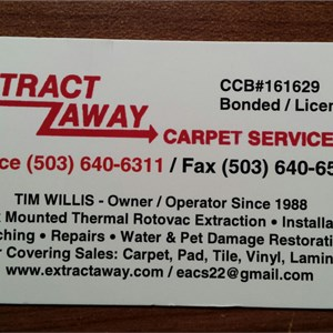 Extract Away Carpet & Installation Service Inc. Logo