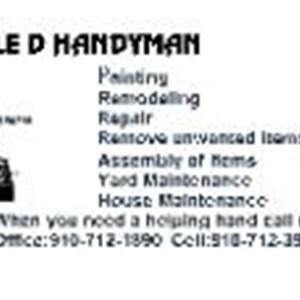 Double D Handyman Service Logo