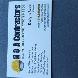 R & A Contractors Logo