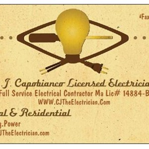 C.j. Capobianco Master Electrician Logo