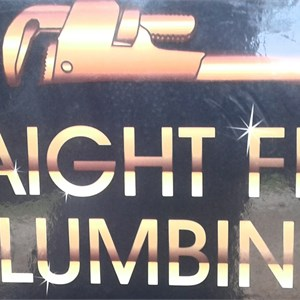 Straight Flush Plumbing Logo