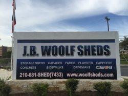 J B Woolf Sheds Logo