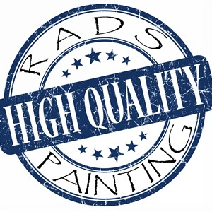 Rads High Quality Painting/handyman Logo