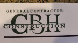 C . B . H . Construction Company Logo