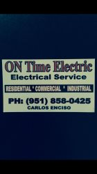 On Time Electric And Lighting Logo