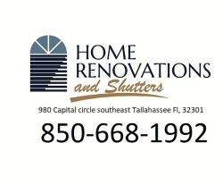 Home Renovation And Shutters Inc. Logo