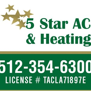 5 Star AC And Heating Logo