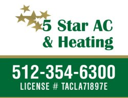5 Star AC & Heating Logo
