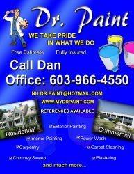 Dr. Paint LLC- White Line Snow Plow Logo