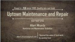 uptown Maintenance and Repair Logo