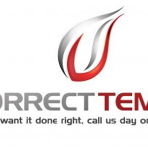 Correct Temp Heating & Cooling Logo