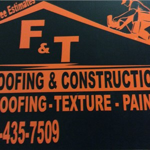 F&T Roofing and Construction. Logo