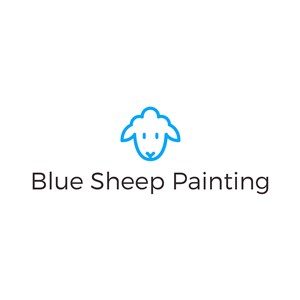 Blue Sheep Painting Logo