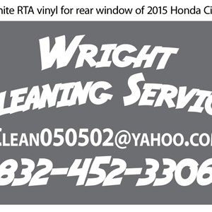 Wright Cleaning Service Logo