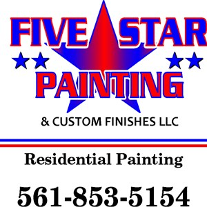 Five start painting and Custom Finishes LLC Logo