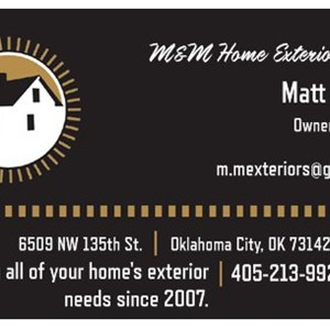 M&m Home Exteriors LLC Logo